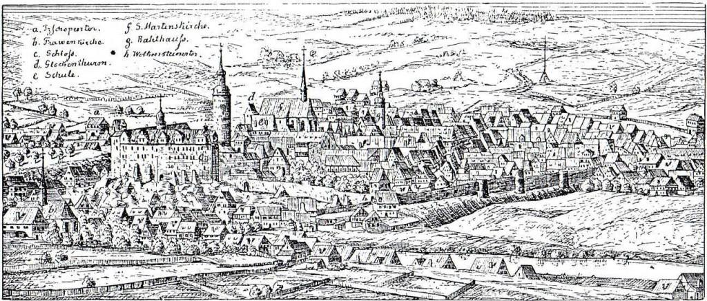 Federzeichnung von Dillich, 1677